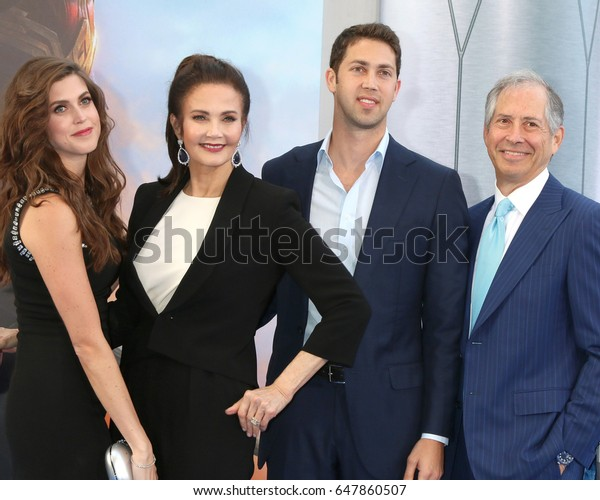 "LOS ANGELES - MAY 25:  Jessica Altman, Lynda Carter, James Altman, Robert A Altman at the ""Wonder Woman"" Los Angeles Premiere at the Pantages Theater on May 25, 2017 in Los Angeles, CA"