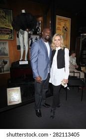 LOS ANGELES - MAY 27:  Jerome Ro Brooks, Donna Mills at the Missing Marilyn Monroe Images Unveiled at the Hollywood Museum on May 27, 2015 in Los Angeles, CA