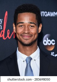 "LOS ANGELES - MAY 28:  Alfred Enoch arrives to the ""How To Get Away With Murder"" ATAS Event  on May 28, 2015 in Hollywood, CA"