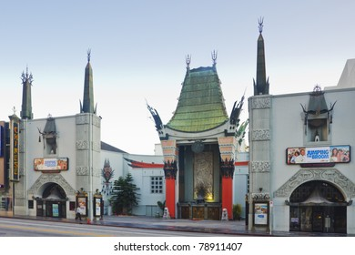 LOS ANGELES - MAY 28: Grauman's Chinese Theater on May 28, 2011 located on Hollywood Boulevard in Hollywood, California. Hand prints of celebrities are ensconced in front of the building.