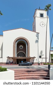 Los Angeles, May 28th, 2018: Los Angeles Union Station (LAUS) is the main railway station in Los Angeles, California, and the largest railroad passenger terminal in the Western United States.