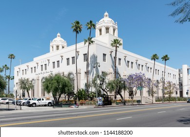 Los Angeles, May 28th, 2018: The United States Post Office, Los Angeles Terminal Annex, also known as Terminal Annex, was the central mail processing facility for Los Angeles, from 1940 to 1989.