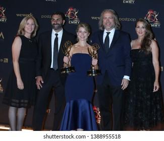 LOS ANGELES - MAY 3:  Samantha Brown, team at the 2019 Creative Daytime Emmy Awards at Pasadena Convention Center on May 3, 2019 in Pasadena, CA