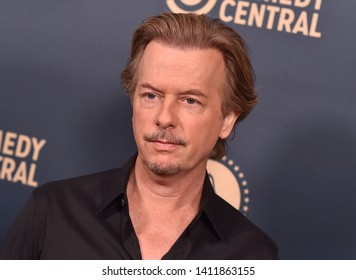 LOS ANGELES - MAY 30:  David Spade arrives for the Comedy Central, Paramount Network, TV Land Press Day on May 30, 2019 in West Hollywood, CA
