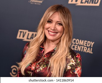 LOS ANGELES - MAY 30:  Hilary Duff arrives for the Comedy Central, Paramount Network, TV Land Press Day on May 30, 2019 in West Hollywood, CA