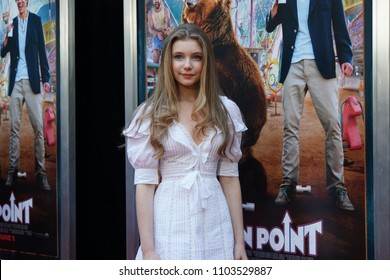 LOS ANGELES, MAY 31ST, 2018: Actress Eleanor Worthington-Cox at the premiere of Action Point held at the Arclight Theatre on Thursday, May 31st, 2018.