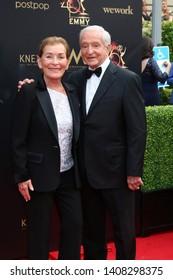 LOS ANGELES - MAY 5:  Judge Judy Sheindlin, Jerry Sheindlin at the 2019  Daytime Emmy Awards at Pasadena Convention Center on May 5, 2019 in Pasadena, CA