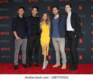LOS ANGELES - MAY 6:  13 Reasons Why Cast Members, Anne Winters at the Netflix FYSEE Kick-Off Event at Raleigh Studios on May 6, 2018 in Los Angeles, CA