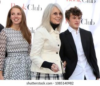 "LOS ANGELES - MAY 6:  Dexter Keaton, Diane Keaton, Duke Keaton at the ""Book Club"" LA Premiere at Village Theater on May 6, 2018 in Westwood, CA"