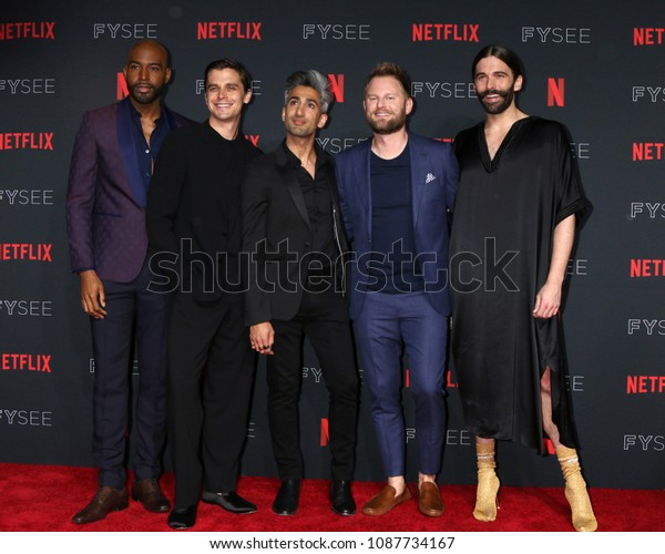 LOS ANGELES - MAY 6:  Karamo Brown, Antoni Porowski, Tan France,  - SEE RANK Bobby Berk, Jonathan Van Ness at the Netflix FYSEE Kick-Off Event at Raleigh Studios on May 6, 2018 in Los Angeles, CA