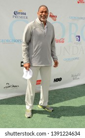 LOS ANGELES - MAY 6:  Norm Nixon at the George Lopez Golf Tournament at the Lakeside Golf Club on May 6, 2019 in Burbank, CA