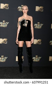 LOS ANGELES - MAY 7:  Cara Delevingne at the MTV Movie and Television Awards on the Shrine Auditorium on May 7, 2017 in Los Angeles, CA