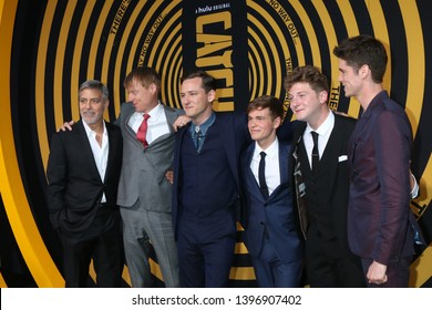 "LOS ANGELES - MAY 7:  George Clooney, Jay Paulson, Lewis Pullman, Graham Martin, Josh Bolt, Pico Alexander at the ""Catch-22"" Premiere  at the TCL Chinese Theater IMAX on May 7, 2019 in Los Angeles, CA"