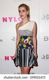 LOS ANGELES - MAY 7:  Kiernan Shipka at the NYLON Magazine Young Hollywood Issue Party  at the HYDE Sunset on May 7, 2015 in West Hollywood, CA