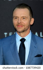 """LOS ANGELES - MAY 8:  Simon Pegg at the """"Terminal"""" Premiere at the ArcLight Theater on May 8, 2018 in Los Angeles, CA"""