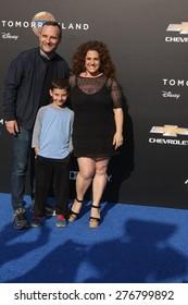 "LOS ANGELES - MAY 9:  Judah Miller, Zev Miller, Marissa Jaret Winokur at the ""Tomorrowland"" Premiere at the AMC Downtown Disney on May 9, 2015 in Lake Buena Vista, CA"