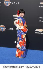 """LOS ANGELES - MAY 9:  Mirai Shida at the """"Tomorrowland"""" Premiere at the AMC Downtown Disney on May 9, 2015 in Lake Buena Vista, CA"""