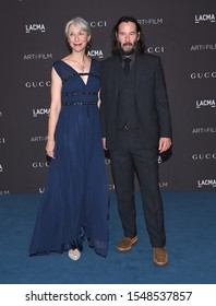 LOS ANGELES - NOV 02:  Alexandra Grant and Keanu Reeves arrives for the LACMA Art and Film Gala 2019 on November 02, 2019 in Los Angeles, CA