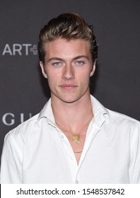 LOS ANGELES - NOV 02:  Lucky Blue Smith arrives for the LACMA Art and Film Gala 2019 on November 02, 2019 in Los Angeles, CA