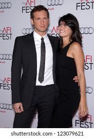 """LOS ANGELES - NOV 03:  Josh Lucas & Date arriving to """"J. Edgar"""" Los Angeles Premiere  on November 03, 2011 in Hollywood, CA"""