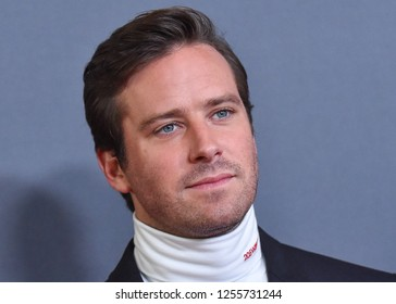 LOS ANGELES - NOV 04:  Armie Hammer arrives for the 2018 Hollywood Film Awards on November 4, 2018 in Beverly Hills, CA