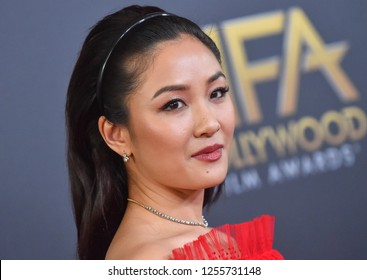 LOS ANGELES - NOV 04:  Constance Wu arrives for the 2018 Hollywood Film Awards on November 4, 2018 in Beverly Hills, CA