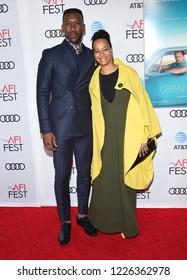 "LOS ANGELES - NOV 09:  Mahershala Ali and Amatus Sami-Karim arrives to the ""Green Book"" AFI Screening  on November 9, 2018 in Hollywood, CA"