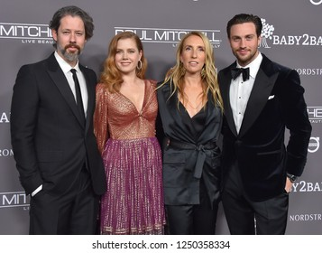 LOS ANGELES - NOV 10:  Darren Le Gallo, Amy Adams, Sam Taylor-Johnson and Aaron Taylor-Johnson arrives to the Baby2Baby Gala  on November 10, 2018 in Hollywood, CA