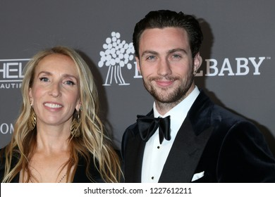 LOS ANGELES - NOV 10:  Sam Taylor-Johnson, Aaron Taylor-Johnson at the 2018 Baby2Baby Gala at the 3Labs on November 10, 2018 in Culver City, CA