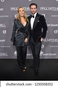 LOS ANGELES - NOV 10:  Sam Taylor-Johnson and Aaron Taylor-Johnson arrives to the Baby2Baby Gala  on November 10, 2018 in Hollywood, CA