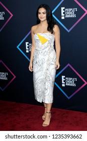 LOS ANGELES - NOV 11:  Camila Mendes at the People's Choice Awards 2018 at the Barker Hanger on November 11, 2018 in Santa Monica, CA