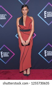 LOS ANGELES - NOV 11:  Shay Mitchell arrives for the 2018 People's Choice Awards on November 11, 2018 in Santa Monica, CA