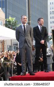 LOS ANGELES - NOV 12:  Daniel Radcliffe, Chris Hardwick at the Daniel Radcliffe Hollywood Walk of Fame Ceremony at the Hollywood Walk of Fame on November 12, 2015 in Los Angeles, CA