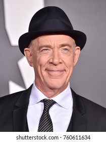 """LOS ANGELES - NOV 13:  JK Simmons arrives for the """"Justice League"""" World Premiere on November 13, 2017 in Hollywood, CA"""