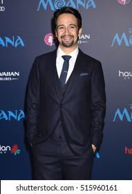 "LOS ANGELES - NOV 14:  Lin-Manuel Miranda arrives to the AFI FEST 2016 ""Moana"" World Premiere  on November 14, 2016 in Hollywood, CA"