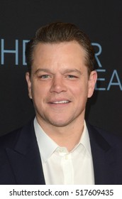 "LOS ANGELES - NOV 14:  Matt Damon at the ""Manchester By The Sea"" at Samuel Goldwyn Theater on November 14, 2016 in Beverly Hills, CA"