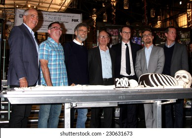 "LOS ANGELES - NOV 14:  Rupert Murdock, executives of Bones and FOX at the ""Bones"" 200th Show Cake Celebration at the Fox Studio Lot on November 14, 2014 in Century City, CA"