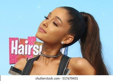 "LOS ANGELES - NOV 16:  Ariana Grande at the ""Hairspray Live!"" Press Junket at Universal Studios Lot on November 16, 2016 in Universal City, CA"