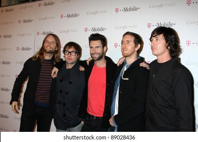 LOS ANGELES - NOV 16:  Maroon 5 arrives at the Google Music Launch at Mr. Brainwash Studio on November 16, 2011 in Los Angeles, CA