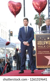LOS ANGELES - NOV 16:  Michael Buble at the Michael Buble Star Ceremony on the Hollywood Walk of Fame on November 16, 2018 in Los Angeles, CA