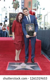 LOS ANGELES - NOV 16:  Priscilla Presley, Michael Buble at the Michael Buble Star Ceremony on the Hollywood Walk of Fame on November 16, 2018 in Los Angeles, CA