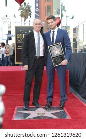 LOS ANGELES - NOV 16:  Tom Corson, Michael Buble at the Michael Buble Star Ceremony on the Hollywood Walk of Fame on November 16, 2018 in Los Angeles, CA