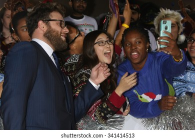 """LOS ANGELES - NOV 17:  Seth Rogen at the """"The Night Before"""" LA Premiere at the The Theatre at The ACE Hotel on November 17, 2015 in Los Angeles, CA"""
