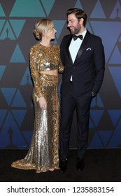 LOS ANGELES - NOV 18:  Emily Blunt, John Krasinski at the 10th Annual Governors Awards at the Ray Dolby Ballroom on November 18, 2018 in Los Angeles, CA