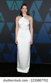 LOS ANGELES - NOV 18:  Felicity Jones at the 10th Annual Governors Awards at the Ray Dolby Ballroom on November 18, 2018 in Los Angeles, CA