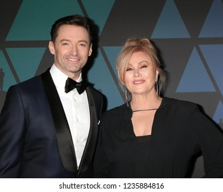 LOS ANGELES - NOV 18:  Hugh Jackman, Deborra-lee Furness at the 10th Annual Governors Awards at the Ray Dolby Ballroom on November 18, 2018 in Los Angeles, CA