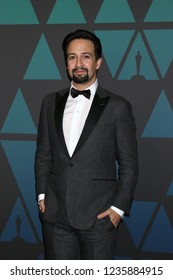 LOS ANGELES - NOV 18:  Lin-Manuel Miranda at the 10th Annual Governors Awards at the Ray Dolby Ballroom on November 18, 2018 in Los Angeles, CA