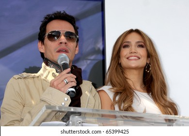 LOS ANGELES - NOV 18:  Marc Anthony, Jennifer Lopez  at the press conference for Jennifer Lopez & Marc Anthony / Kohl's  Launch at The London Hollywood on November 18, 2010 in W. Hollywood, CA