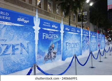 LOS ANGELES - NOV 19: Atmosphere at the premiere of Walt Disney Animation Studios' 'Frozen' at the El Capitan Theater on November 19, 2013 in Los Angeles, CA