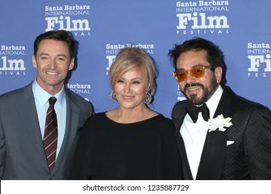 LOS ANGELES - NOV 19:  Hugh Jackman, Deborra-lee Furness, Roger Durling at the SBIFF Kirk Douglas Award Honoring Hugh Jackman at the RItz Carlton Bacara on November 19, 2018 in Santa Barbara, CA